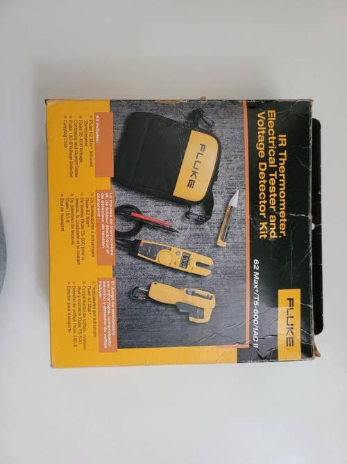 Fluke - kit combo pince ampèremétrique + thermomètre ir + détecteur