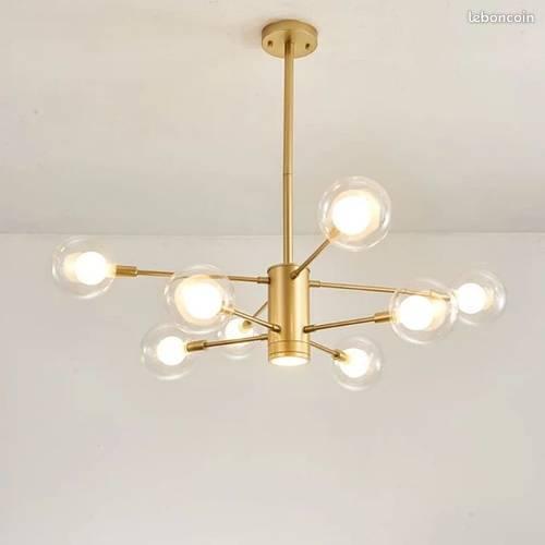 Vends plafonnier métal doré mat - design et contemporain - Neuf