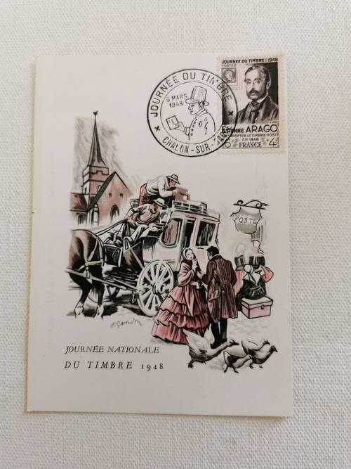 """Vends cartes postales """"journée du timbre"""" des années 40/50"""