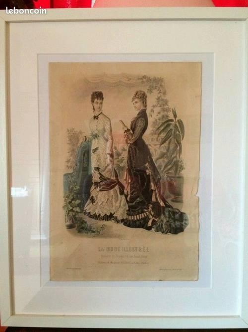 Gravure de la Mode Illustrée de 1876