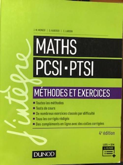 Prépa Math Sup: Maths PCSI PTSI DUNOD