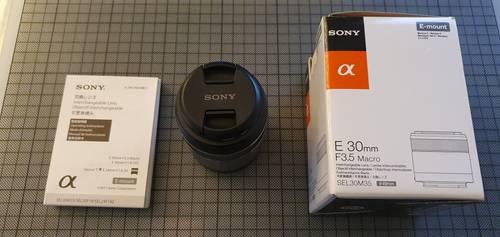 Objectif photo Sony e30mm sel30m35