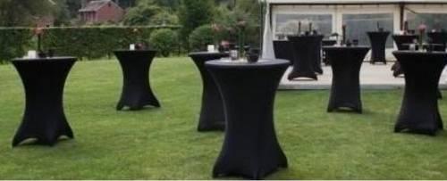 Loue tables pliantes mange debout avec housse noire