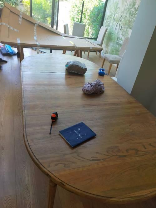 Table de salle à manger avec 2rallonges