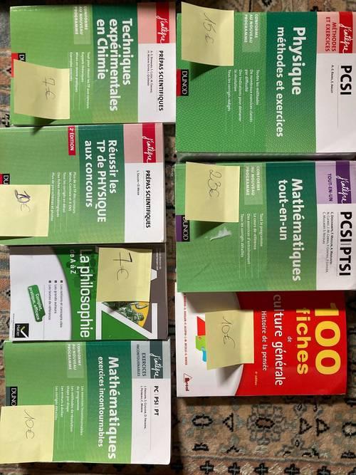 Livres de prépa pour PCSI/PC principalement