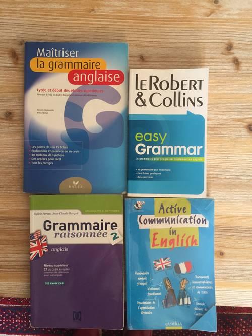 Vends manuels d'anglais