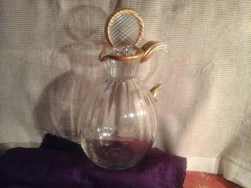 """Superbe flacon en cristal art nouveau """"Daum Nancy"""""""