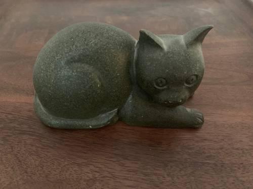 Joli chat bloque porte ou deco 17cm