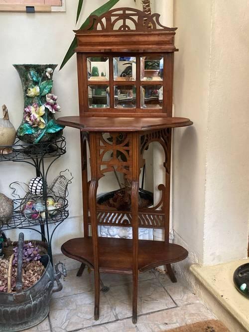 Art nouveau meuble de toilette miroirs biseautés vers 1900