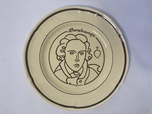 Simon (Henry), assiette décorative Bonchamps Vendée collection XXème
