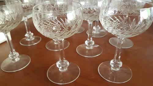 10verres à vin d'alsace en cristal