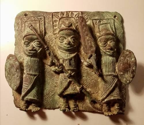 Plaque en bronze Ifé du Benin