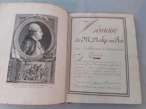 Manuscrit - mémoire de Necker