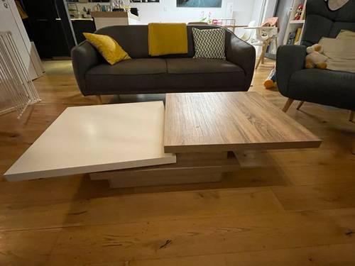 Superbe table basse design quasi neuve
