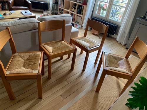 Vends 4chaises de salle à manger Maison Regain