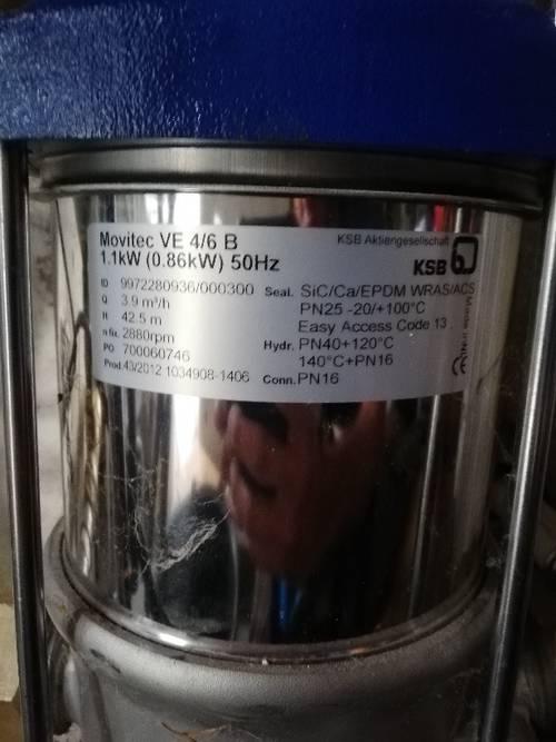 Vends pompe triphasée: Marque KSB