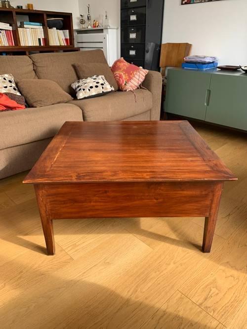 Table basse en bois wengé