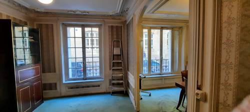 Vends appartement rez-de-chaussée - 60m², 3pièces à rénover entièrement, Paris 17ème