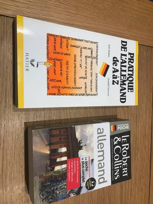"""Vends livres """"Pratique de l'allemand de A à Z"""" / dictionnaire allemand"""