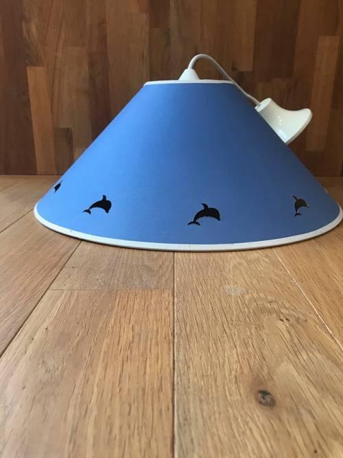 Vends abat-jour bleu dauphins
