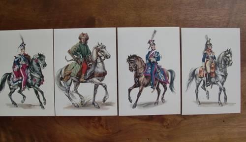 Cartes postales de collection: Militaires polonais, XVII et XVIII s'