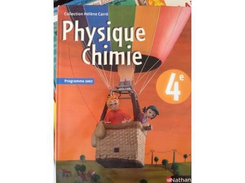 Vends livre Physique-Chimie 4ème