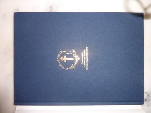"Livre ""Mission Agapanthe 2010"" porte avions Charles de Gaulle"