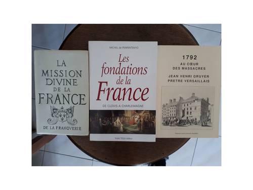 Vends lot de 3livres - Histoire de France