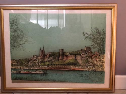 Vends tableau Carzou - Château d'Anger