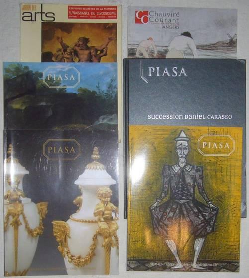 5catalogues vente Piasa tableaux objets d'art mobilier ancien C