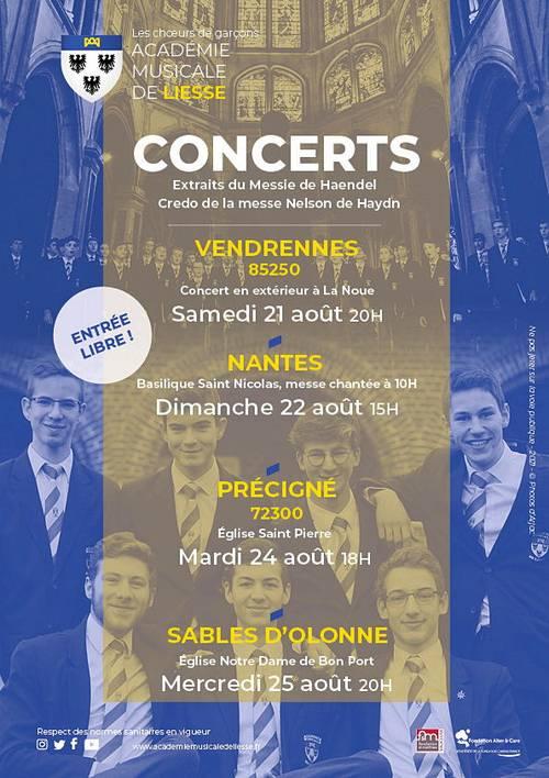 L'Académie Musicale de Liesseen concert à Précigné (72) le 24août
