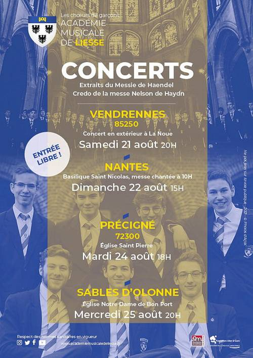 L'Académie Musicale de Liesse: concert aux Sables d'Olonne le 25août
