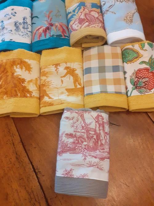 Adorables serviettes invités