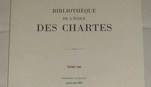Bibliothèque de l'Ecole des Chartes de 1965à 2010