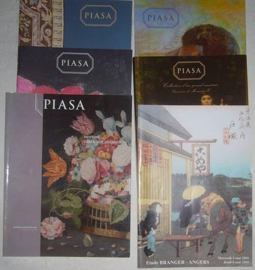6catalogues vente Piasa tableaux objets d'art mobilier ancien A