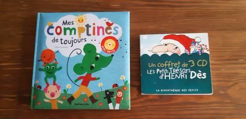 Album 3cd Henri Des + livre album 1cd comptines