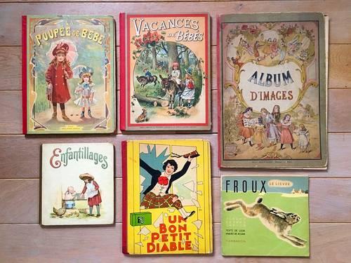 6albums anciens pour enfant fin XIX début XX