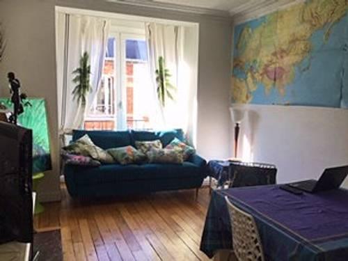 Loue appartement F2meublé à neuf 44m² Alésia Moulures, parquets, cheminées, rangements - Paris 14ème