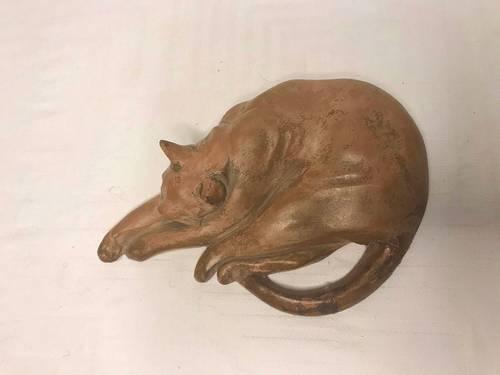Ancienne sculpture en terre cuite signée Prozinski début XXème