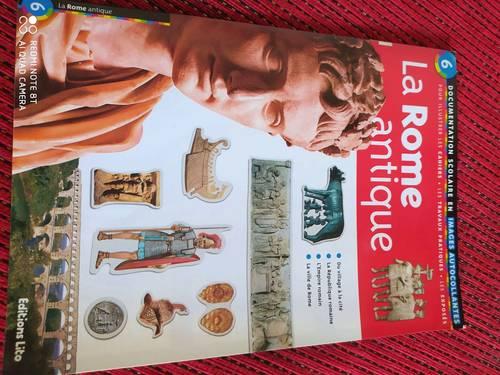 La Rome antique, documentation scolaire en images autocollantes