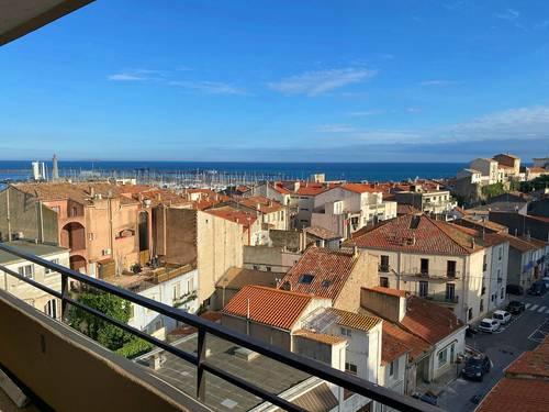 Loue Appart 4p. Sète centre: vues exceptionnelles sur mer, port et toits 4couchages