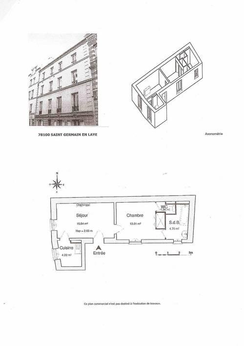 Loue appartement 2pièces 40m² Saint Germain en Laye (78) proche RER