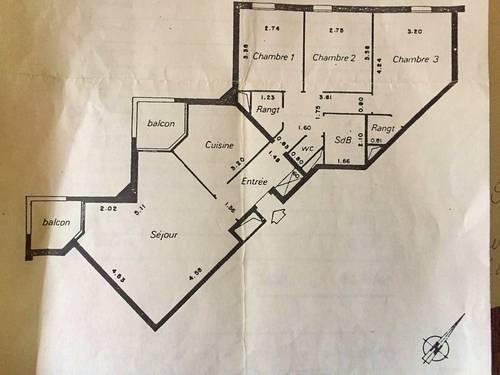 Loue appartement 4pièces Vanves (92) - 82m²