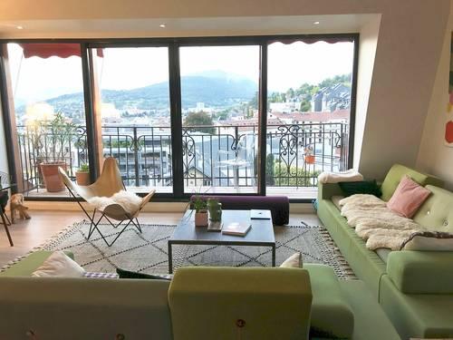 Loue appartement 105m² vue ville et lac 4couchages, Aix les Bains