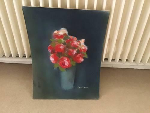 Fleurs dessinées au fusain