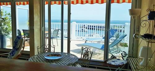 Loue T2-4couchages -grand balcon vue mer au calme - Arcachon (33)