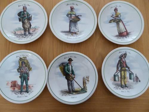 2x 6assiettes porcelaine du Berry métiers du vieux Paris neuves