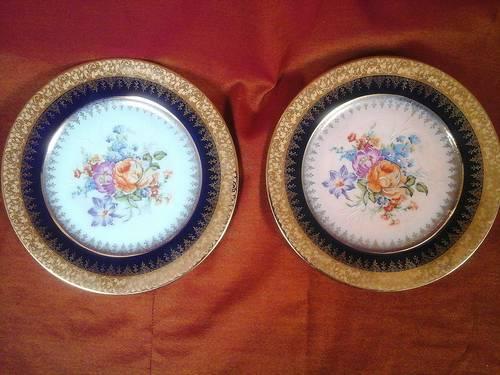 2assiettes deco porcelaine de Limoges