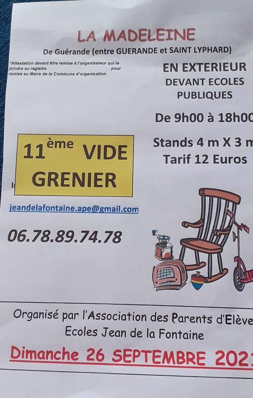 Les Ateliers Mirabelle seront au vide grenier de Guérande le 26sept