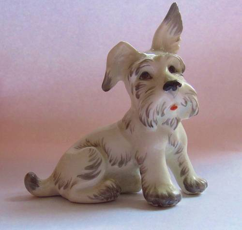 Wien Augarten Chien Porcelaine de Vienne Fox Terrier